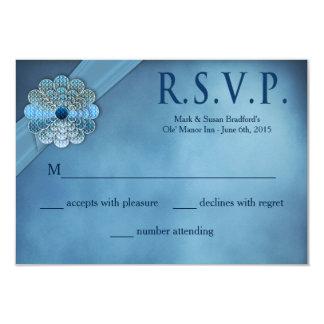 Voeux de mariage de renouvellement - élégant bleu carton d'invitation 8,89 cm x 12,70 cm