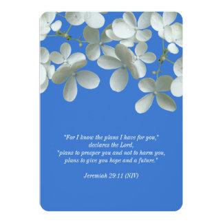 Voeux de renouvellement bleus et invitations