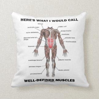 Voici ce que j'appellerais les muscles bien oreiller