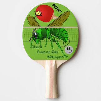 Voici venir la palette drôle de ping-pong de raquette tennis de table