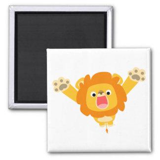 Voici venir l'aimant de problème (lion mignon de b magnet carré