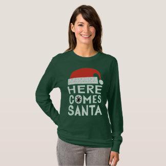 Voici venir le T-shirt de fête de vacances de Noël