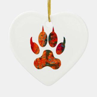 Voie de loup ornement cœur en céramique