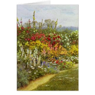 Voie d'herbe et de fleur cartes