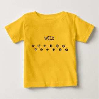 Voies d'animal sauvage t-shirt pour bébé