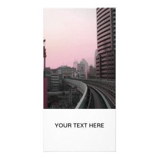 Voies de train de Tokyo Photocarte