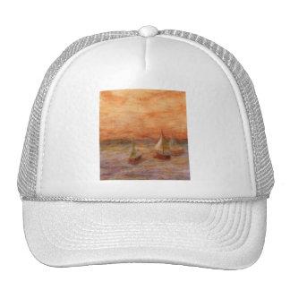 Voile de soirée, chapeau casquettes de camionneur
