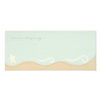 Voile écartant des annonces carton d'invitation  10,16 cm x 23,49 cm