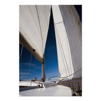 Voiles et ciel de yacht poster