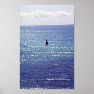 Voilier à Honolulu, Hawaï Affiche