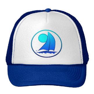 Voilier bleu de vecteur casquettes
