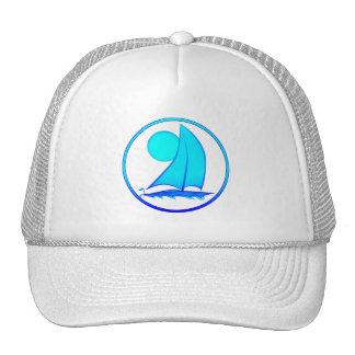 Voilier de bleu d océan casquettes