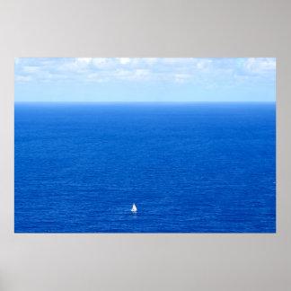 voilier et l'horizon 2 poster