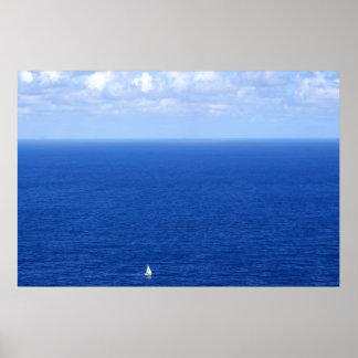 Voilier et l'horizon poster