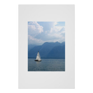 Voilier, le Lac Léman, Suisse Poster