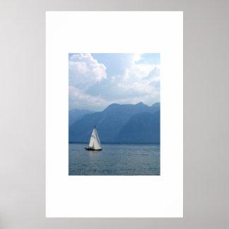 Voilier, le Lac Léman, Suisse Posters