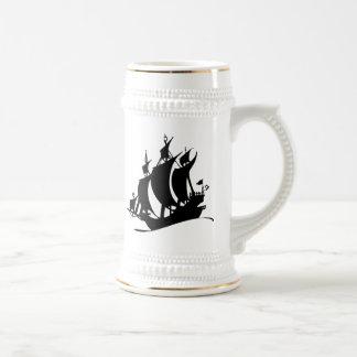 Voilier vintage tasse à café
