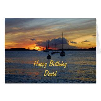 Voiliers de joyeux anniversaire de David au Carte De Vœux