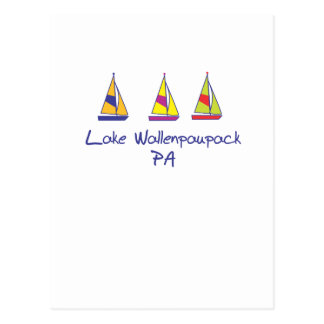 Voiliers de Wallenpaupack de lac Cartes Postales