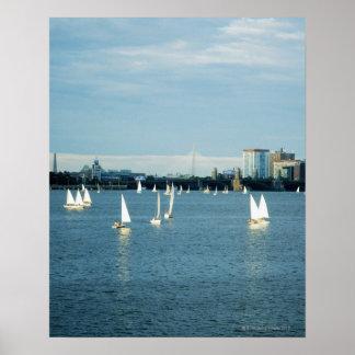 Voiliers en rivière, Charles River, Boston, 2 Posters