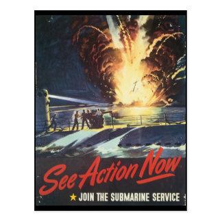 Voir la deuxième guerre mondiale d'action cartes postales
