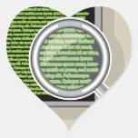 Voir le code par la loupe sticker cœur