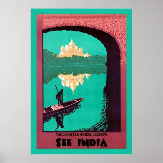 Voir le voyage vintage de ~ de l'Inde Posters