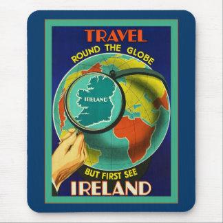 Voir le voyage vintage d'Irlandais de ~ de l'Irlan Tapis De Souris