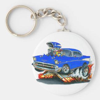 Voiture 1957 de bleu de Chevy Belair Porte-clés