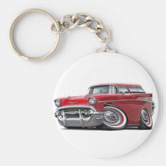 Voiture 1957 de rouge de nomade de Chevy Porte-clés