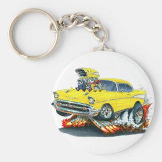 Voiture 1957 jaune de Chevy Belair Porte-clés