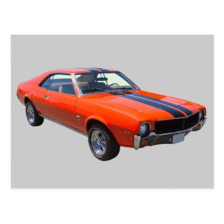Voiture 1969 de muscle d'AMC Javlin Carte Postale