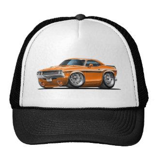 Voiture 1970-72 d'orange de challengeur casquettes