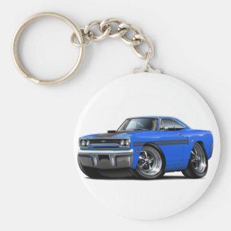 Voiture 1970 Bleu-Noire de Plymouth GTX Porte-clés