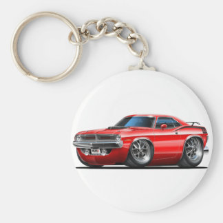 Voiture 1970 de rouge de Plymouth Cuda Porte-clés