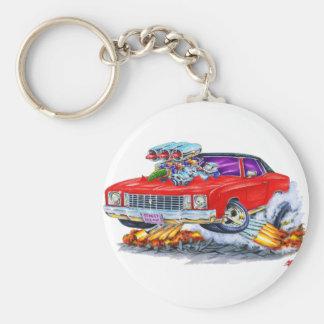 Voiture 1972 de rouge de Monte Carlo Porte-clé Rond