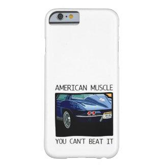 Voiture américaine de muscle, classique et V8 bleu Coque iPhone 6 Barely There