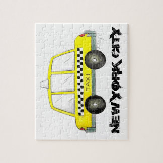 Voiture Checkered jaune de cabine du taxi NYC New Puzzles