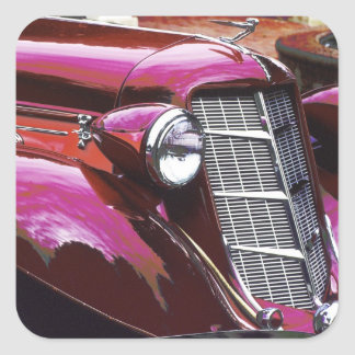 Voiture classique : Auburn Sticker Carré