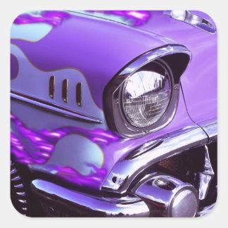 Voiture classique : Chevrolet avec le capot Sticker Carré