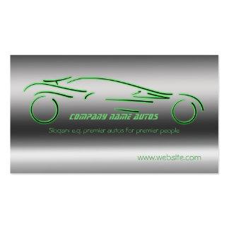 Voiture commerciale d'automobile - Sportscar vert Carte De Visite Standard