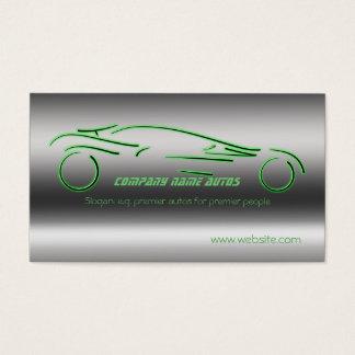 Voiture commerciale d'automobile - Sportscar vert Cartes De Visite
