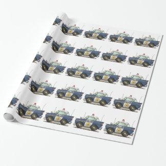 Voiture de cannette de fil de Crusier de police de Papier Cadeau Noël
