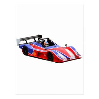 voiture de course carte postale