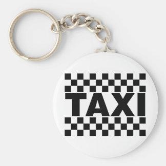Voiture de ~ de taxi de ~ de taxi pour la location porte-clé rond