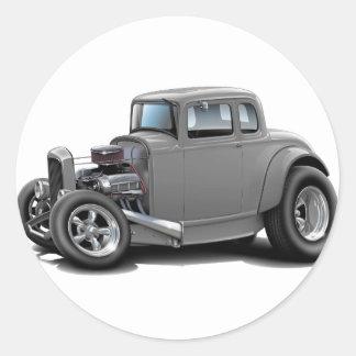 voiture de gris de hot rod des années 1930 sticker rond
