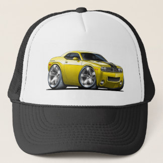 Voiture de jaune de challengeur de Dodge Casquette
