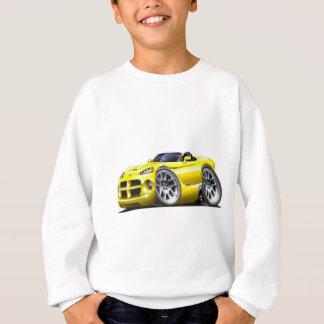 Voiture de jaune de roadster de vipère de Dodge Sweatshirt