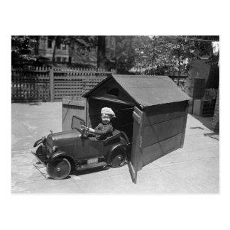Voiture de pédale de hot rod, les années 1900 tôt carte postale