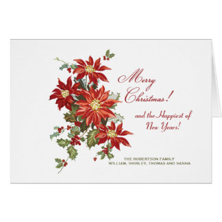 Voiture de photo de vacances pliée par (h) de carte de vœux